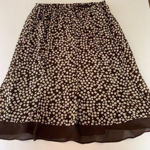Dresses & Skirts - Brown and white polka dot frilly skirt. Size 16